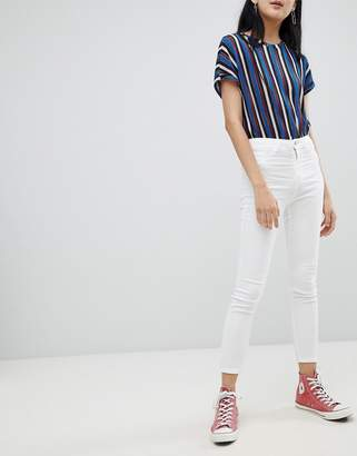 Pull&Bear high waist skinny jean in white
