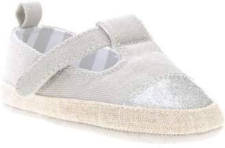 Stepping Stones Newborn Baby Girl Lurex Glitter Toe-Cap Espadrille