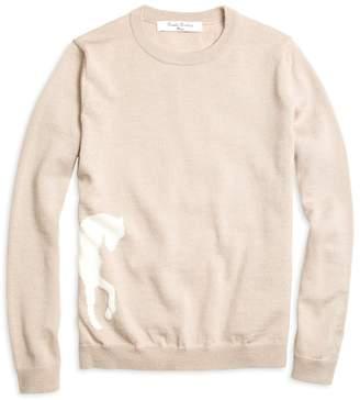 Brooks Brothers Merino Wool Horse Intarsia Sweater