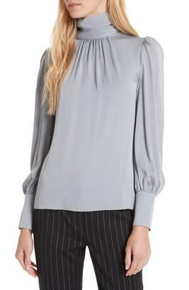 Milly Annabel Back Cutout Silk Blend Blouse
