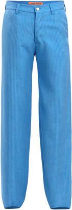 Maggie Marilyn Go Getter Pinstripe Straight-Leg Twill Pants