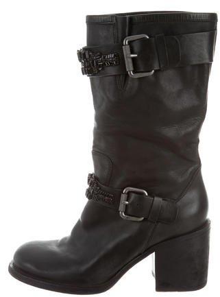 Vera Wang Lavender Label Embellished Mid-Calf Boots