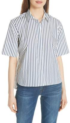 Equipment Paulette Short Sleeve Cotton Top