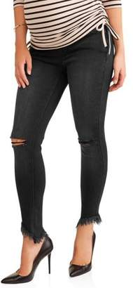 Liz Lange Maternity Maternity Over The Belly Skinny Jeans With Rip Details