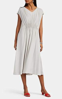 Pas De Calais Women's Georgette V-Neck Shift Dress - Light Gray