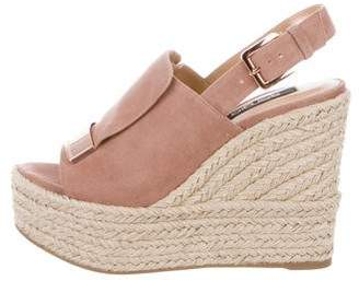 Sergio Rossi Suede Espadrille Wedges w/ Tags