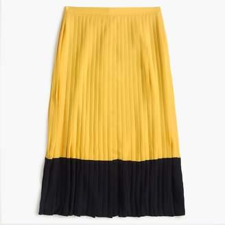 J.Crew Pleated colorblock midi skirt