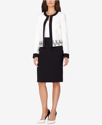 Tahari ASL Lace-Trim Skirt Suit $320 thestylecure.com