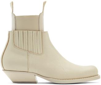 MM6 MAISON MARGIELA Off-White Cut-Out Double Chelsea Boots