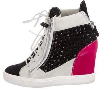 Giuseppe Zanotti Embellished Wedge Sneakers