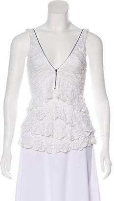 Isabel Marant Ruffle-Accented Lace Top