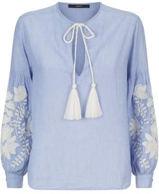 SET Embroidered Tunic Blouse