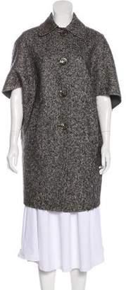 Michael Kors Virgin Wool Herringbone Coat