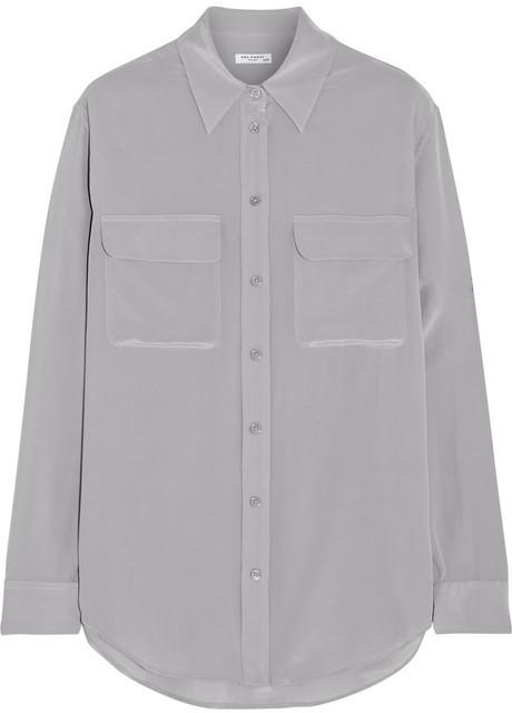 Equipment Signature Super Vintage washed-silk shirt