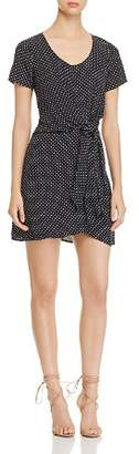 Three Dots Polka-Dot Mini Dress