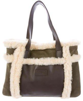 UGG Australia Bicolor Fur-Trimmed Tote $95 thestylecure.com