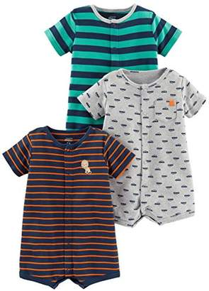 Carter's Simple Joys by Baby Boys' 3-Pack Snap-up Rompers