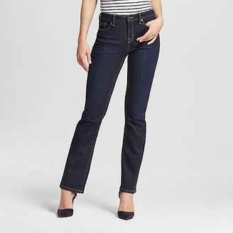 Women's Mid-rise Bootcut Jeans (Curvy Fit) Dark Wash - Mossimo $27.99 thestylecure.com