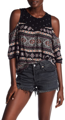 SUSINA Paisley and Floral Cold Shoulder Blouse $24.97 thestylecure.com