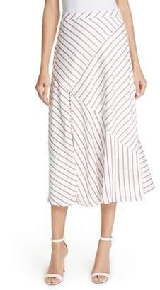 Nicholas Stripe Panel Skirt
