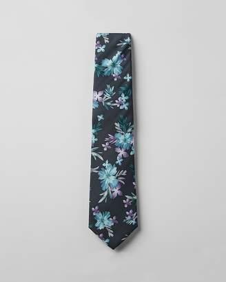 Express Skinny Silky Floral Tie