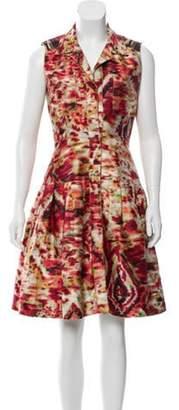 Oscar de la Renta Printed Shirt Dress Red Printed Shirt Dress
