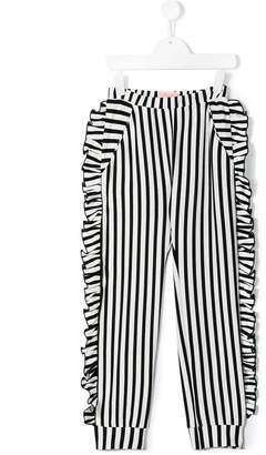 Bang Bang Copenhagen striped ruffle trousers