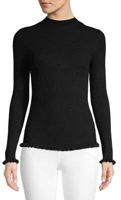 Miss Selfridge Frilled Mockneck Sweater
