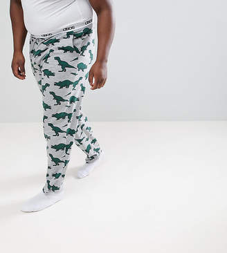 Asos DESIGN PLUS Pajama Bottoms With Dinosaur Print