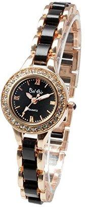 Bel Air [ベルエア 腕時計 レディース ラインストーン ベゼル ゴージャス レディース キラキラ セラミック風 女性用 DNS2