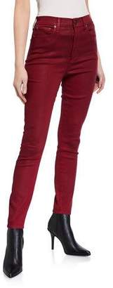 Alice + Olivia JEANS Good High-Rise Coated Skinny Ankle Jeans