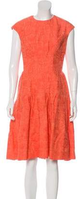 Lela Rose Jacquard A-Line Dress