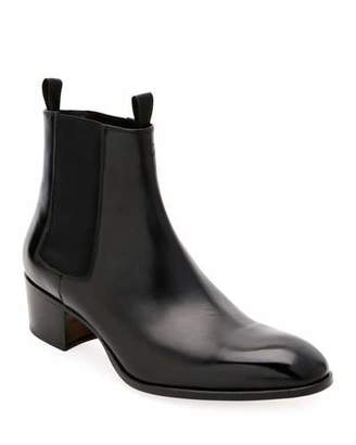Tom Ford Men's Wilde Patent Chelsea Boots