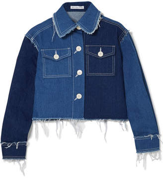 REJINA PYO - Tessa Frayed Denim Jacket - Mid denim