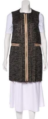Marni Herringbone Frayed Vest