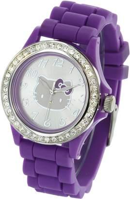 Hello Kitty Girl's HK1826-Q01 Analog Display Quartz Purple Watch