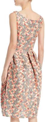 Zac Posen Sleeveless Scoop-Neck Bonded-Lace Dress