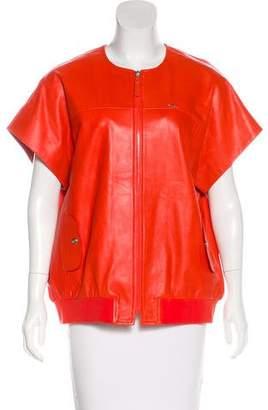 Longchamp Short Sleeve Leather Jacket