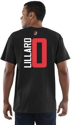 Majestic Men's Portland Trail Blazers Damian Lillard Name and Number Tee