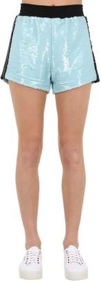 Chiara Ferragni Sequined Shorts W/Side Bands