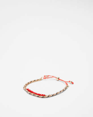 Express Double Row Faceted Pull-Cord Bracelet