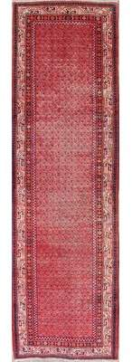 "Darby Home Co Futch Paisley Red Persian Oriental Hand-Knotted Wool Runner Rug 12' 2"" X 3' 7"" Darby Home Co"