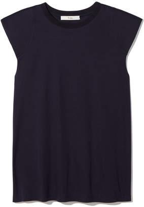 Tibi Padded Shoulder Sleeveless Top