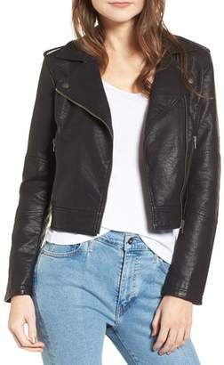 Cupcakes And Cashmere Burwell Faux Leather Moto Jacket