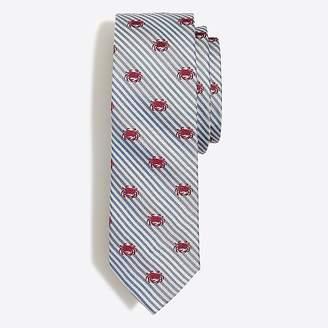J.Crew Mercantile Embroidered seersucker tie