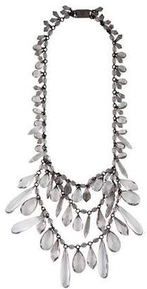 Prada Tiered Crystal Necklace