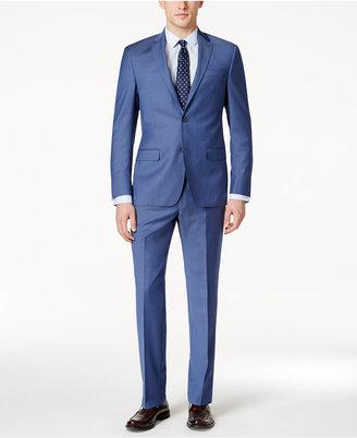 DKNY Men's Slim-Fit Light Blue Suit $650 thestylecure.com