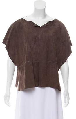 Fabiana Filippi Short Sleeve Leather Top w/ Tags