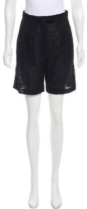 Giambattista Valli Guipure Lace High-Rise Shorts w/ Tags