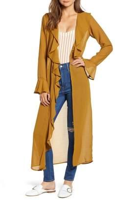 Love, Fire Ruffle Front Wrap Jacket